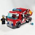 Camión de bomberos de juguete bloques de construcción 244 unids educativos diy construcción ladrillos con muñequita fireman sam compatible legoelied
