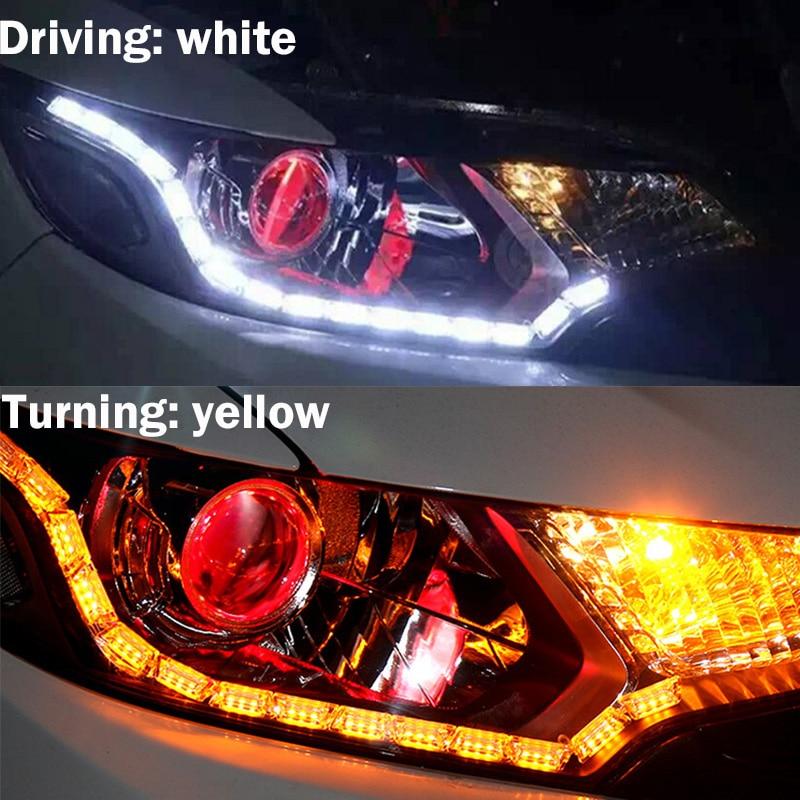 2 pcs warna ganda kristal mata LED day day running light DRL - Lampu mobil - Foto 2