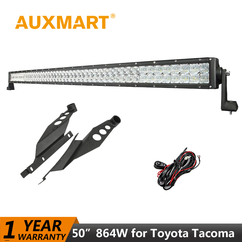 ჱAuxmart para Toyota Tacoma 2005 ~ 2015 luz LED bar 50 pulgadas 5D ...