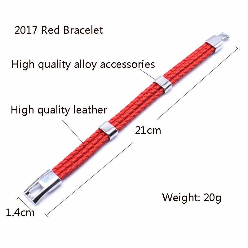 2017 divat Unisex ékszerek piros karakterlánc karkötő 3 réteg - Divatékszer - Fénykép 4