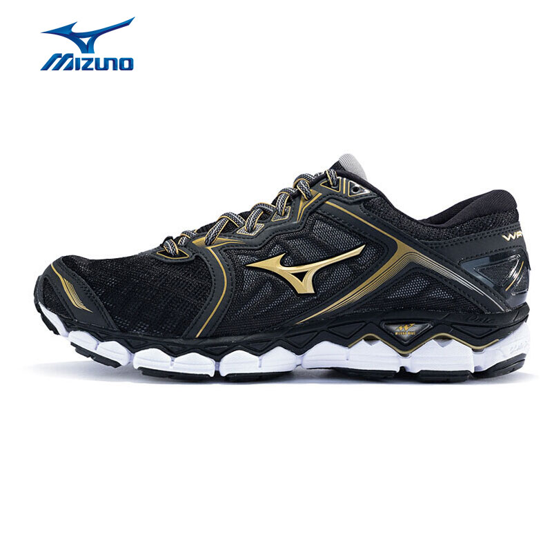 MIZUNO Men WAVE SKY Running Jogging Shoes Breathable Cushion Sports Shoes Comfort Sneakers J1GC170250 XYP576 kingcamp dot wave comfort