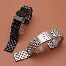 Ремешок из нержавеющей стали, серебристый, черный, металлический, матовый, аксессуары для часов, подходит для samsung gear S3, часы, неполированный ремешок, ремешки, браслеты