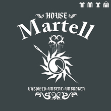 Game of thrones house Martell sigil original design men unisex t shirt 100 preshrink ringspun cotton