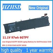 11,1 В 97wh 6 gtpy 5XJ28 ноутбук Батарея для Dell Precision 5510 XPS 15 9550 9560 9570 6 gtpy 5XJ28