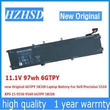11.1V 97wh 6GTPY new Original 5XJ28 Laptop Battery For Dell Precision 5510  XPS 15 9550 9560 9570 6GTPY 5XJ28 9cells 97wh original new laptop battery for dell latitude e5440 e5540 n5yh9 ft6d9 3k7j7 m7t5f