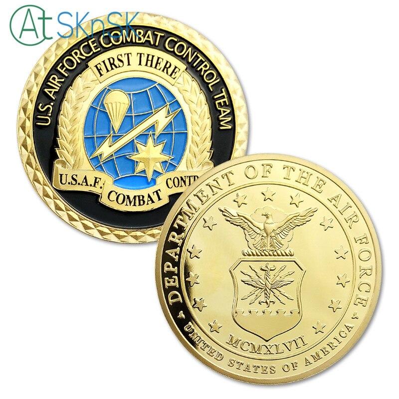 Wholesale 50/100pcs U.S. Air Force Combat Control Team Challenge Coins Commemorative Coins Collectibles Art USAF Souvenirs Coin