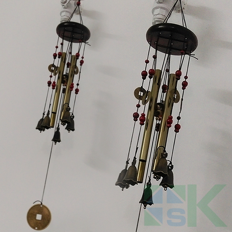 Modern creative decoration gift feng shui copper coins windchime metal bell craft bronzed wind chimes outdoor hanging home decor