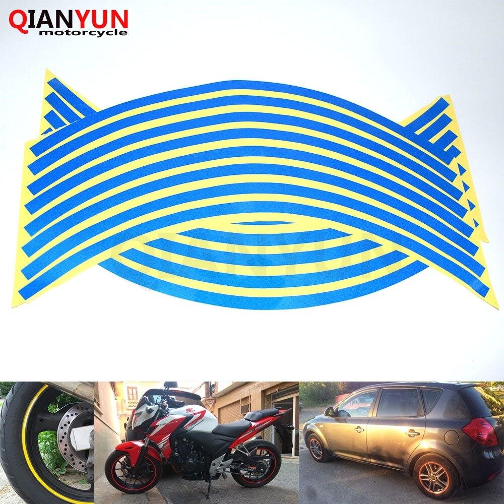 Motorcycle Styling Wheel Hub Tire Reflective Sticker Car Decorative Stripe Decal For Honda CB 599 919 400 CB600 HORNET CBR 600