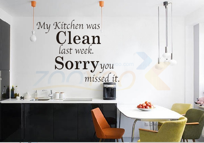 Kitchen rules creative quotes wall decal vinyl wall stickers home decor christmas decoration 8072