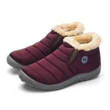 Size35-48 Waterproof Women Winter Shoes Couple Unisex Snow Boots Warm Fur Inside Antiskid Bottom Keep Warm Mother Casual Boots