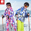 Girl Boy High End Thickening Waterproof Ski Suit Children Girls Warm Snowboarding Coat Jacket Romper Pants