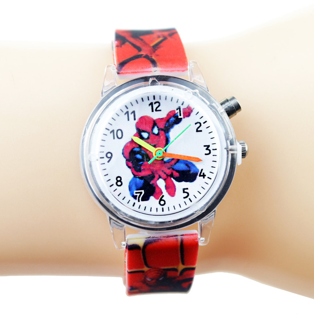 Spiderman Children Watches For Kids Colorful Flash Light Electronic Boys Watch Birthday Party Gift Clock Wrist Dropshipping