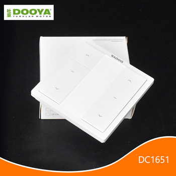 DOOYA DC1651 dual channel Emitter control curtain motor remote control switch, support DOOYA sunflower curtain motor Accessories dc 12v 1 channel remote control motor switch wireless curtain switch 2 button remote control for home light door access control