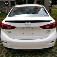 For Mazda 3 Axela 2017 2016 2015 2014 Car Tail Wing Decoration ABS Plastic Unpainted Primer Painting Color Rear Trunk Spoiler