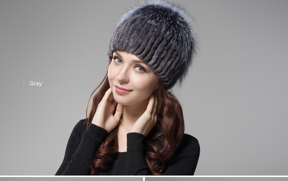 fur woman winter hats PCM012 (18)