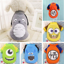 Cartoon Prints Dog Hoodie Pet Dog Clothes For Dogs Coat Jacket Cotton Ropa Perro French