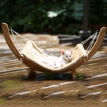 Wooden Cats Hammock