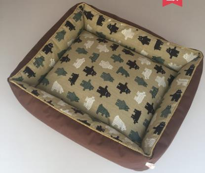 Improved Sleep washable canvas pet dog bed wearproof safe and Long Lasting cool pet mat Padded Pet Bolster Bed Deluxe Pet Bed
