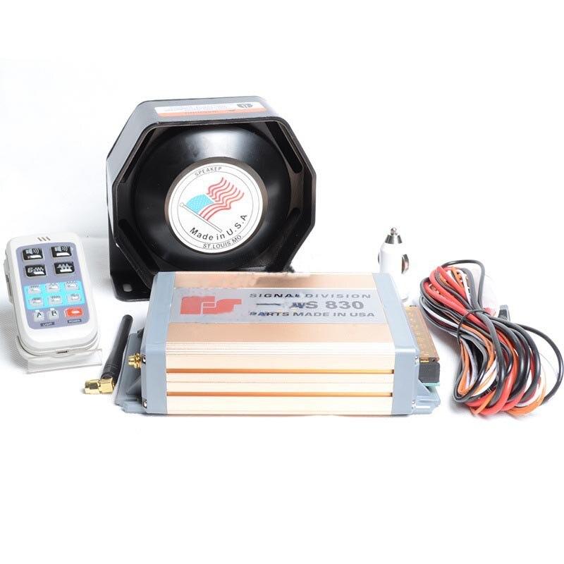 ФОТО Police Siren 200W Car Alarm Siren Horn AS830 Wireless Remote 11 Sounds HD Propaganda Ultra Slim Police Horn Megaphone Speaker