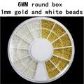 Esferas de aço prego Acessórios Unhas diy Metal jóia Caixa de Diamantes Ouro e branco Apenas microbeads contas Nunca desaparecer