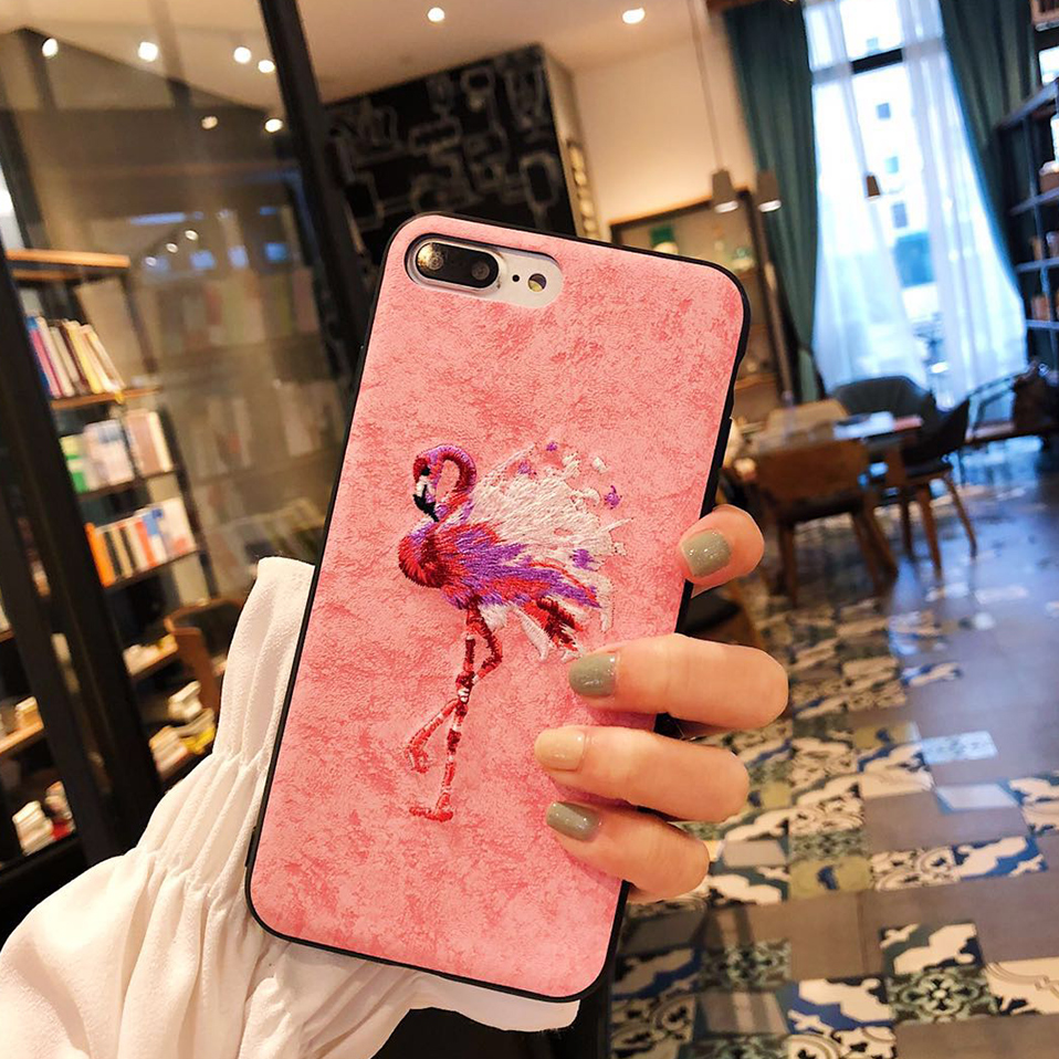 Flamingo Phone Case For iPhone X 6S 6 7 8 Capa Cute Animal Patterned Phone Protective Shell For iPhone 7 8 6 6S Plus Housing