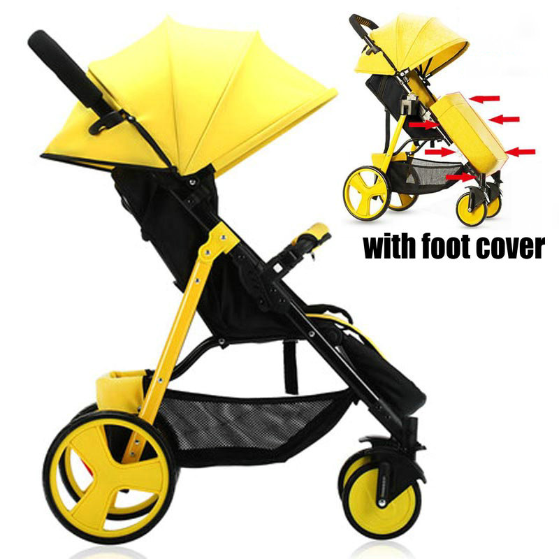 Portable Fold Baby Stroller with Foot Cover, Lightweight Baby Carriage with Footmuff, EVA wheel Baby Pram with Foot CoverPortable Fold Baby Stroller with Foot Cover, Lightweight Baby Carriage with Footmuff, EVA wheel Baby Pram with Foot Cover