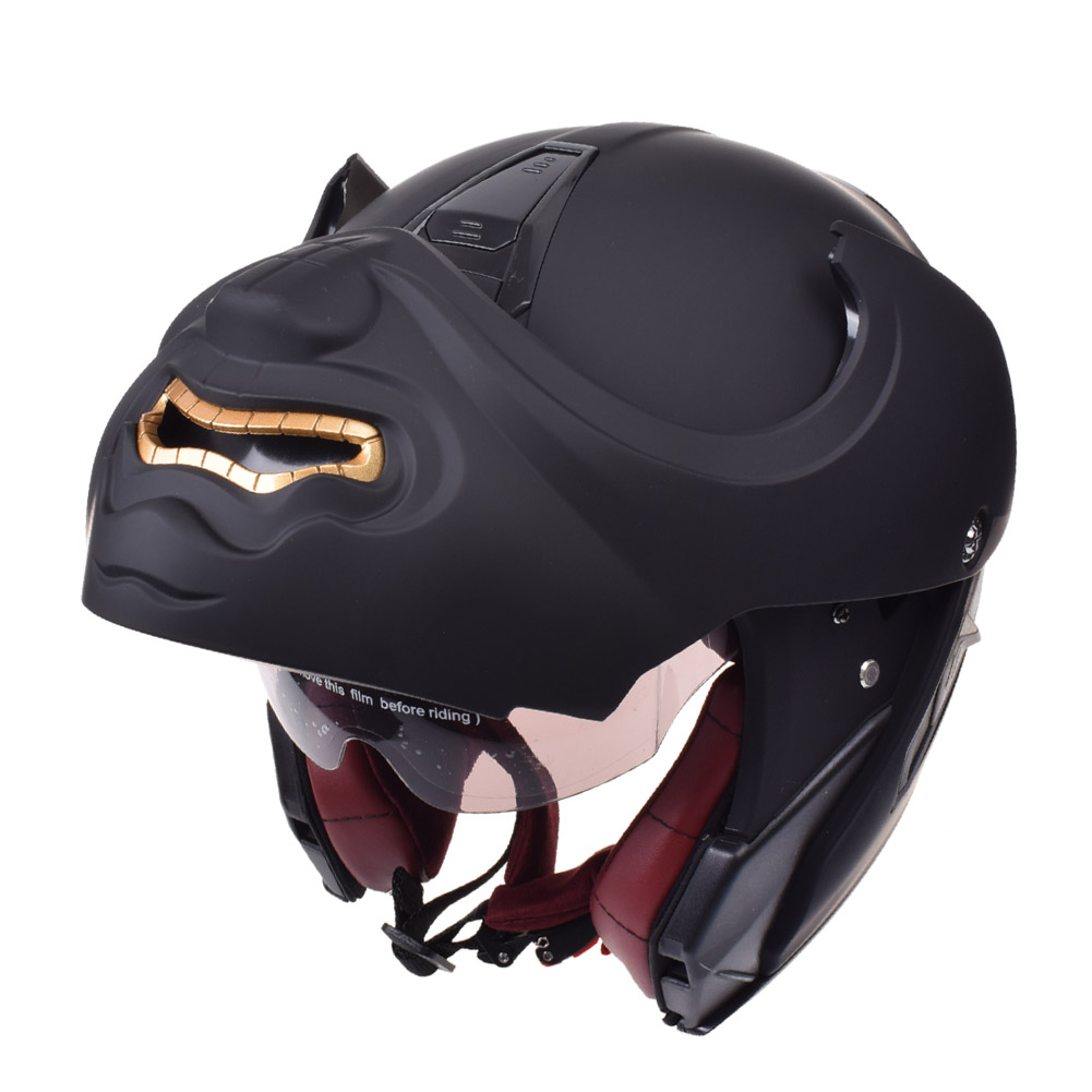 casque moto rabattable casque modulaire moto chopper retro predateur vintage cruiser casque tete de mort