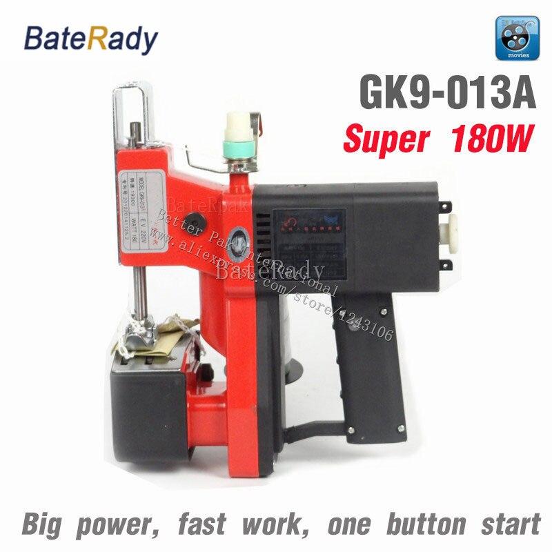 GK9-013A BateRady Portable machines à coudre, PP tissé sac de plus près, électrique portable machine à coudre. riz sac scellant, 220-240 V, 180 W