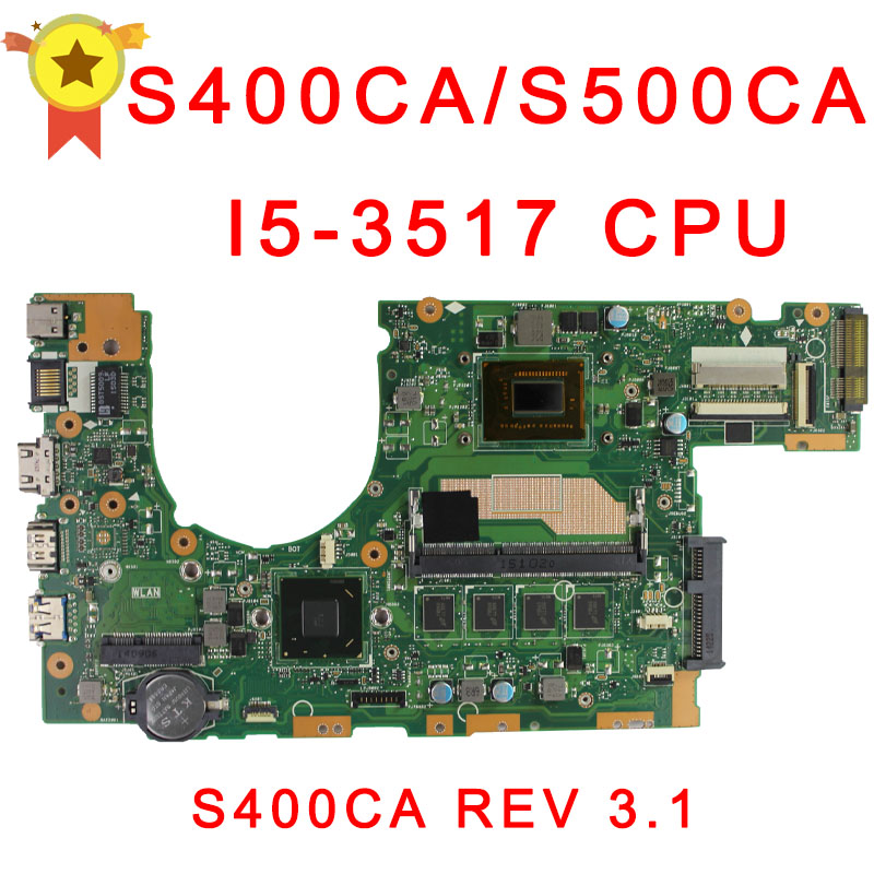 for asus S500c s400c S400CA S500CA MAIN BOARD original MOTHERBOARD 60NB0060-MBF000 69N0NUM1EA00 with I5-3337U or I5-3317U CPU цена 2016