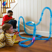2018 Hot Sale Speed Pipes Remote Control Flash Light Car Toys Racing Track Toys DIY Building Tube Children's Educational Toys