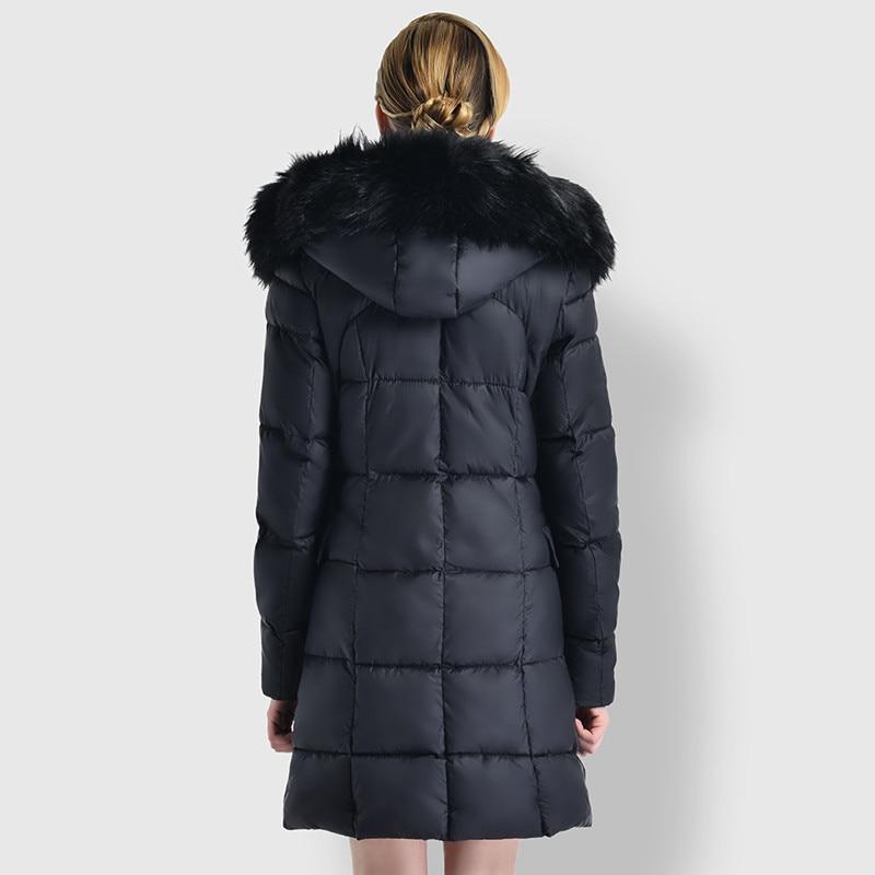 Grand Section Slim Manteau Femmes Hiver Chaud Col Coton Fourrure Dq227 Extérieur À Veste De 2018 Longue Nouveau Capuchon Épais qp6xw8XX