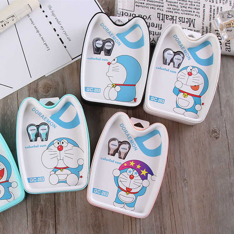 Cute Lovely Cartoon Doraemon 3.5mm In-Ear Stereo Music Earphone Kawaii Colorful Portable Small Earbud Headset For Phone/MP3/MP4