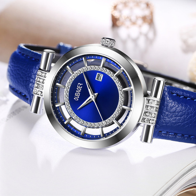 OUBAOER Fashion Leather Bracelet Watches Women Top Luxury Brand Ladies Quartz Watch Famous Wrist Watch Relogio Feminino Hodinky