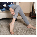 Pascua de Algodón Invierno de Las Mujeres Espesan con Terciopelo Leggings Cintura Alta Elástica Leggings Pantalones Calientes Pantalones de Maternidad para Las Mujeres