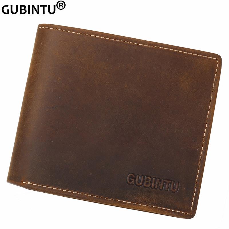 купить NEW Men's Fashion Crazy Horse Leather Bifold Wallet Credit Card Holder Zipper Purse дешево