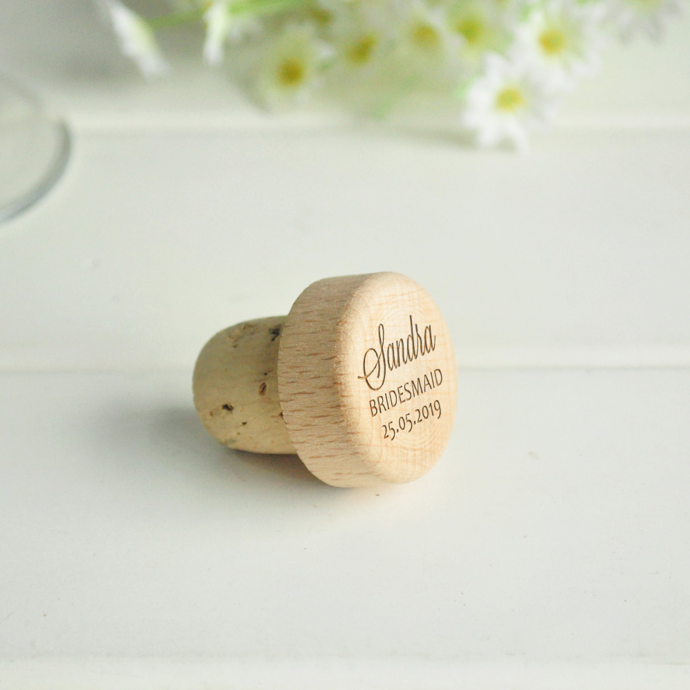 Personalized Wine Cork Wedding Favor Wine Bottle Stopper Custom Wedding Gift