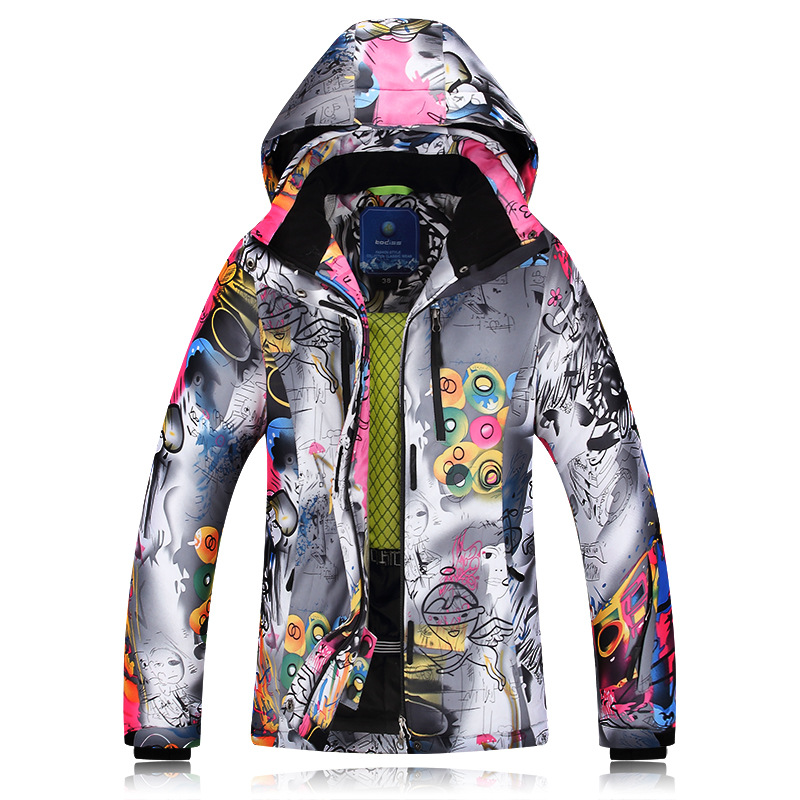 2018 Winter Ski Jackets Ladies Single Double Board Ski Clothing Windproof Waterproof Warm Thick Coat Ski Jacket Women (3)