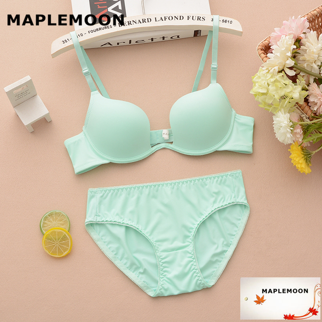 15a5c11c3 1919 fruit green young women Summer Seamless no trace shell cup ladies sexy  bras set students Dropshipping cup Bra   Brief Sets
