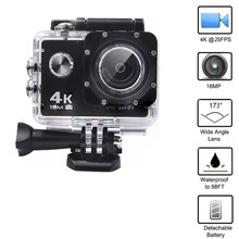 лучшая цена Motorcycle Camera 4K 16M  action camera,170 Degree Car Dash Cam Full HD 30m Waterproof Diving WiFi Remote Control Helmet