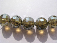 5strands 3 12mm Topaz Smoky Crystal Like Gorgous High Quality Round Ball Faceted Red Blue Grey