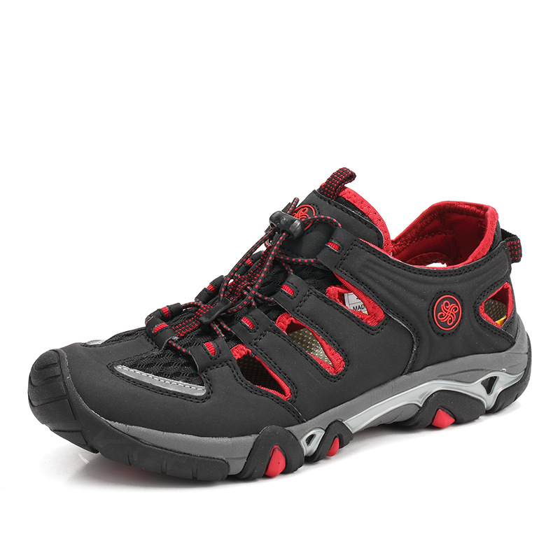 Sandálias vermelho 2019 Sapatos De Homem Da Homens Casuais Praia Romanas Ar Além Ao Verão Chinelos Hombre Ocos Plana amarelo Dos Livre Laranja Romanos Do Sapato 0gwEqg