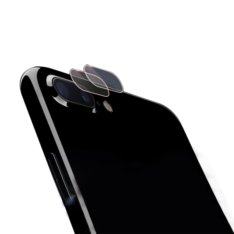 Camera Lens Tempered Glass for Iphone 7 8 Plus X Glass Clear Protector with Color Frame Explosion Proof Anti-fingerprint Film