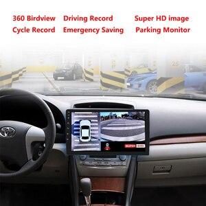 Image 2 - 1080スーパーhd 360度バードビューシステムパノラマビュー車カメラ4 CH dvrレコーダーgセンサーdvr quadコアcpu