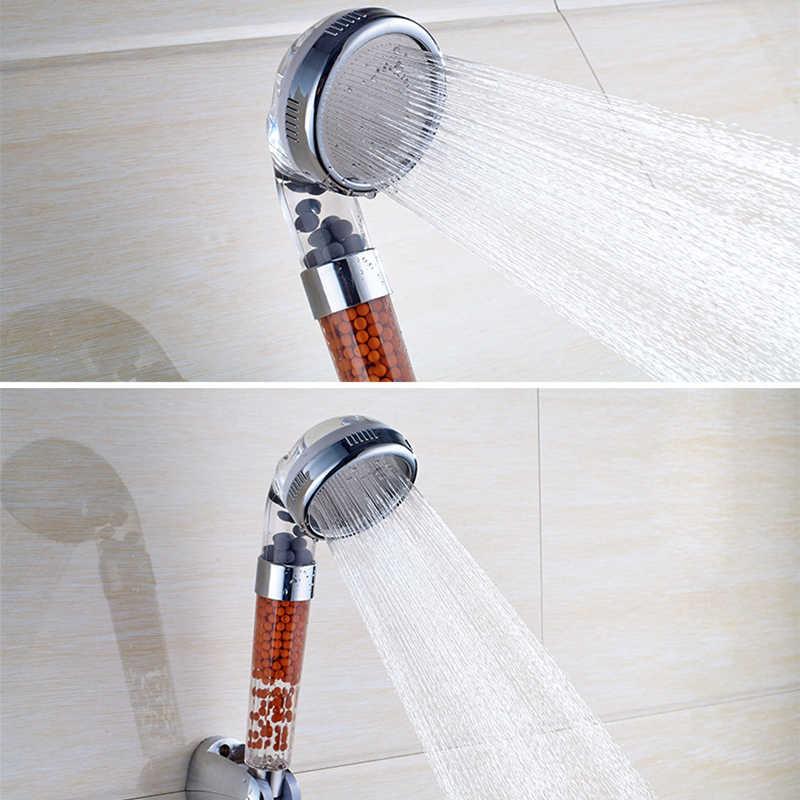 Anpro シャワーヘッド水治療スパ節水降雨シャワーフィルタヘッド高圧シャワーヘッド浴室アクセサリー