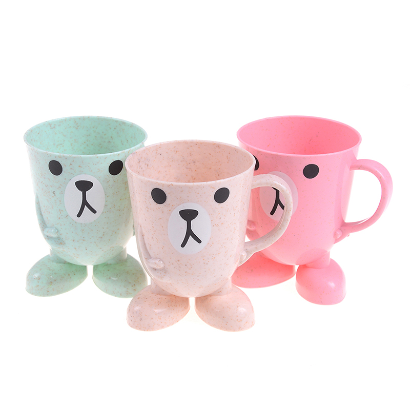Baby Training Cups Learn Drink Feeding Bottles Cartoon Children Baby Bamboo Toothbrush Cup Baby Wash Cup Water Cups For Kids