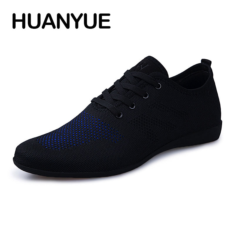 Image 2 - Hot Summer Men Shoes Breathable Men Casual Shoes Low Lace up Mesh Male Shoes Comfortable Flat Shoes For Men Zapatillas Hombre-in Men's Casual Shoes from Shoes