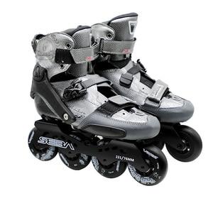 Image 2 - Japy paten SEBA KSJ Bullet profesyonel Slalom tek sıra tekerlekli paten karbon Fiber rulo kayak ayakkabıları sürgülü ücretsiz paten Patines