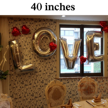 40 Foil Large Letter Balloon Gold Promotion Wedding Easter Christmas Decorations Wholesale Background Birthday Name Decor Home