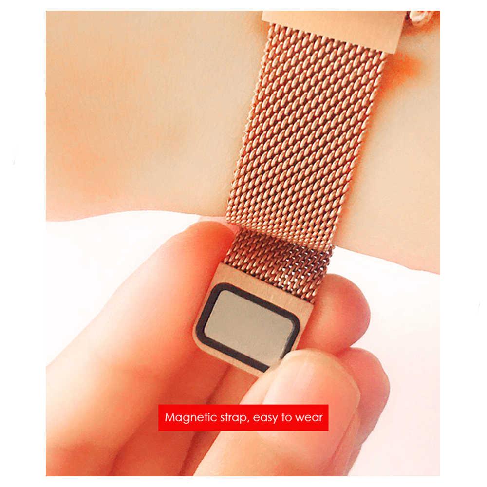 MNWT Смарт часы для женщин Rosegold нержавеющая сталь Smartwatch сердечного ритма фитнес физиологический цикл трекер для Android IOS Телефон