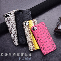 5 Color For Iphone 7 Plus Real Luxury Natural Python Snake Skin Genuine Leather Case For